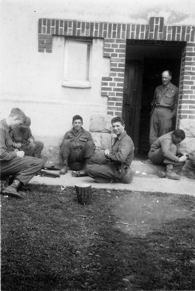 Pete, center, WWII